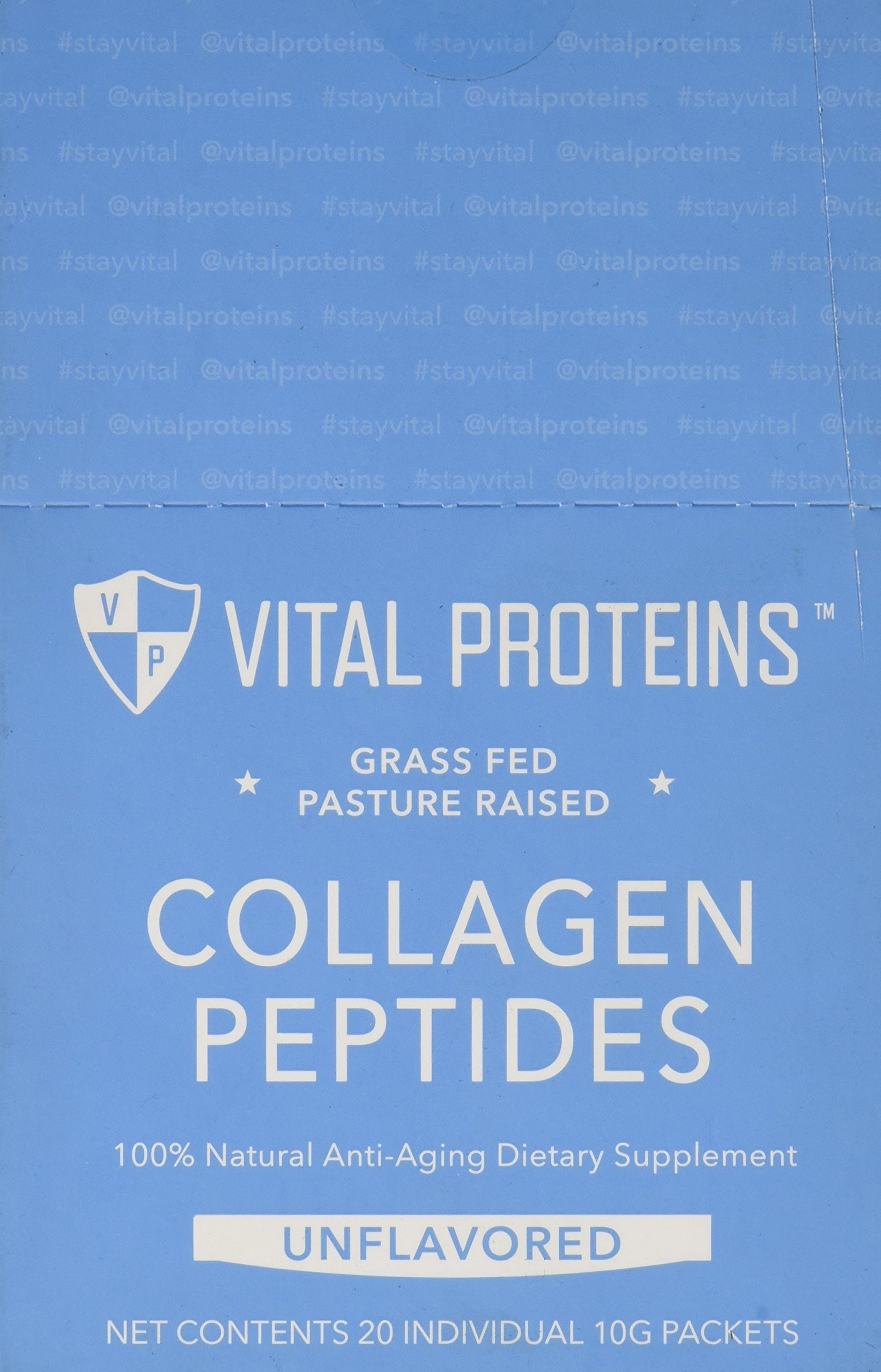 Vital Proteins Grass-Fed Collagen Peptide Stick Packs (10 grams) (Box of 20)