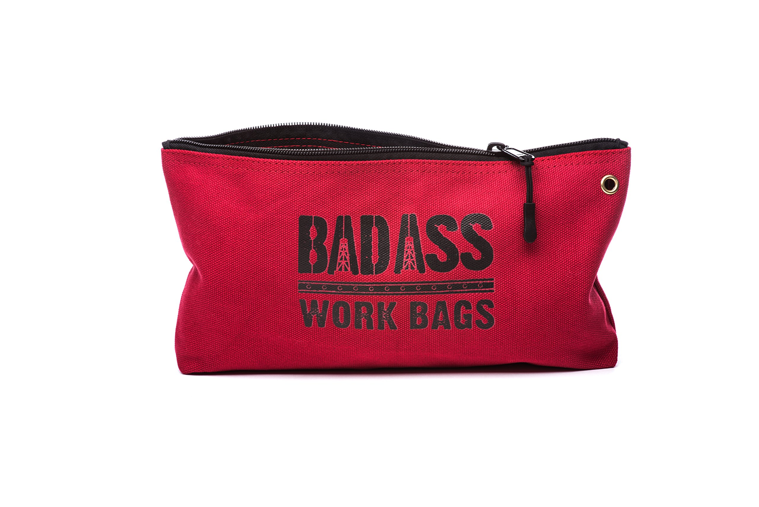 Bad Ass Work Gear   4-Pack of Heavy Duty 20 oz. Canvas Zipper Tool Bags in 4 colors   Toughest Utility Bag by Bad Ass Work Gear (Image #8)