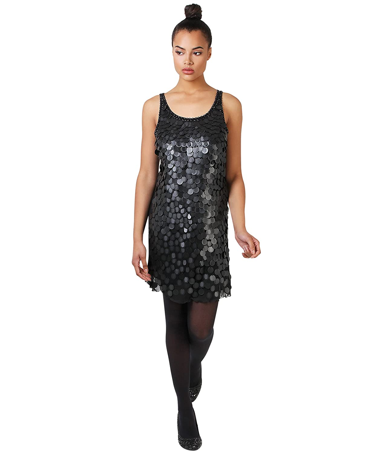 Amazon.com: KRISP Womens 1920s Vintage Glam Sequin Bodycon Flapper Mini Dress Ladies Cocktail Party: Clothing