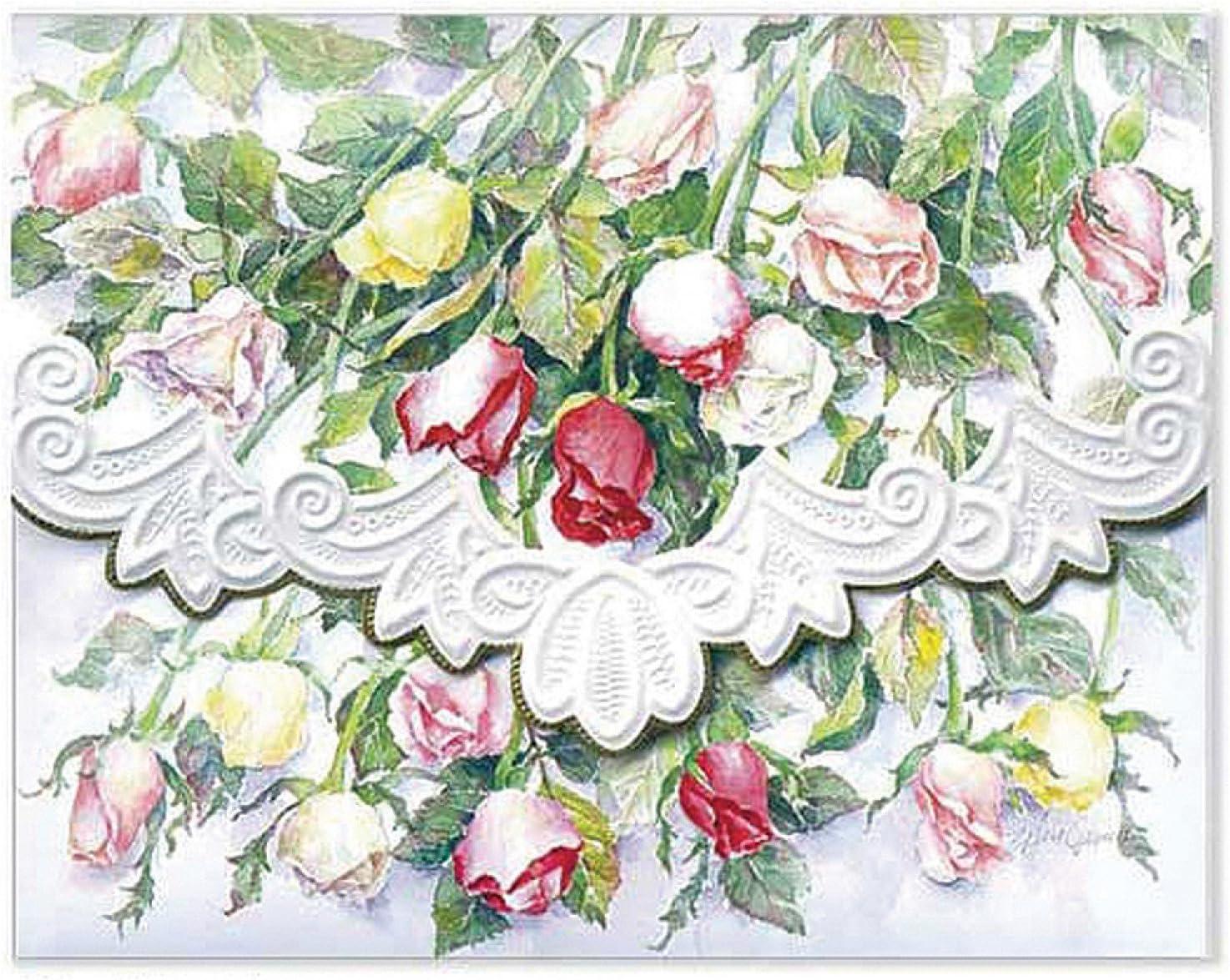 Carol's Rose Garden Long Stemmed Roses Portfolio Blank 10 Card Set