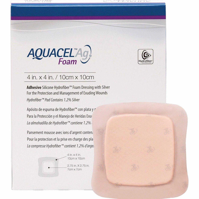 Aquacel Ag Foam Adhesive Dressing 10cm X 10cm X1 420681 Amazon