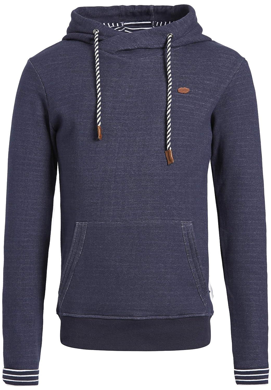 Khujo Herren Sweatshirt Water maritimer Kapuzenpullover Hoodie mit Streifen