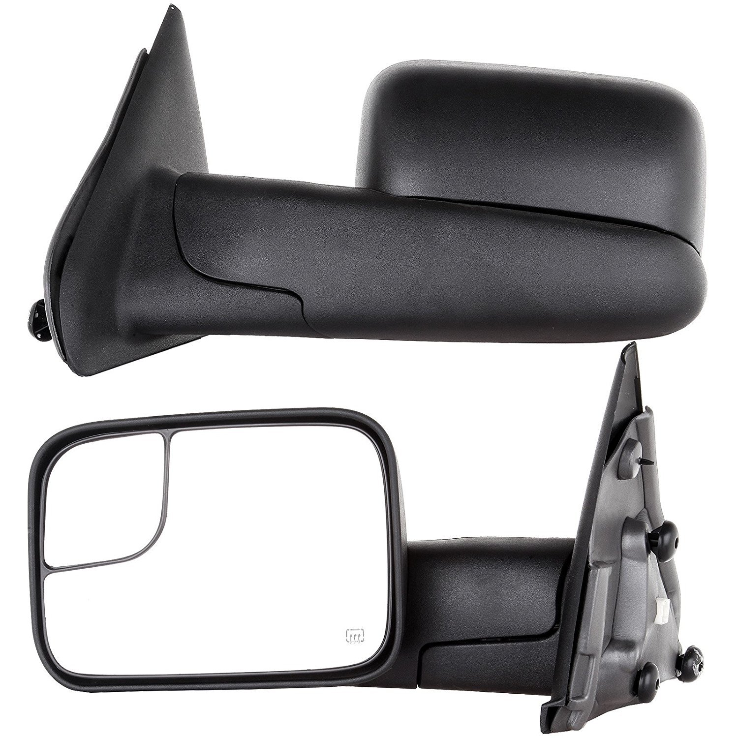 APA Dodge Ram 1500 2500 3500 2002 - 2009 Power Heated Towing Tow Mirror Pair by Auto Parts Avenue