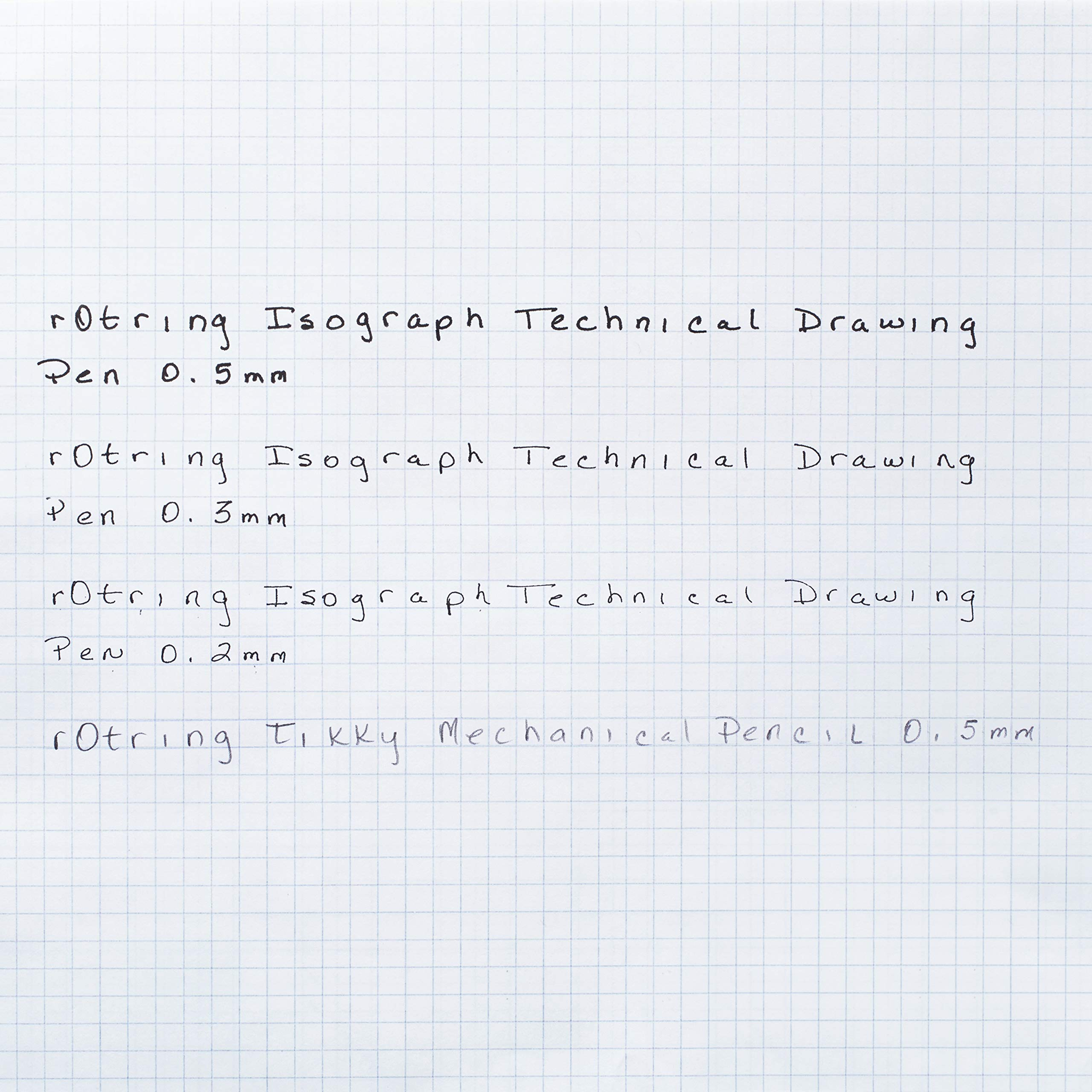 rOtring S0699370 Isograph Technical Drawing Pens, Set, 3-Pen College Set (.20-.50 mm) by Rotring (Image #4)