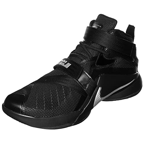 d4dc60e347b Nike Lebron Soldier IX Mens Basketball Shoe Size 9. 5 Black Metallic  Silver  Buy Online at Low Prices in India - Amazon.in
