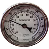 Learn To Brew Thermometer Dial with Stainless Probe & Calibration Screw, 0 - 220°