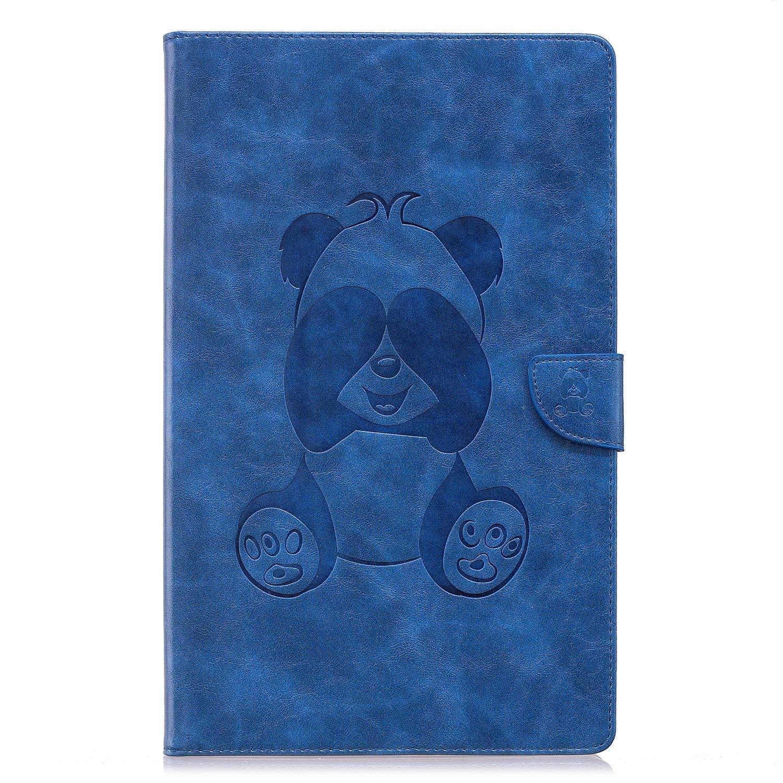 Ekakashop - Funda de piel sintética con tapa para tablet Amazon Fire HD 10 2017 (7ª generación, edición 2017), diseño de panda en relieve, con 6 colores, ...