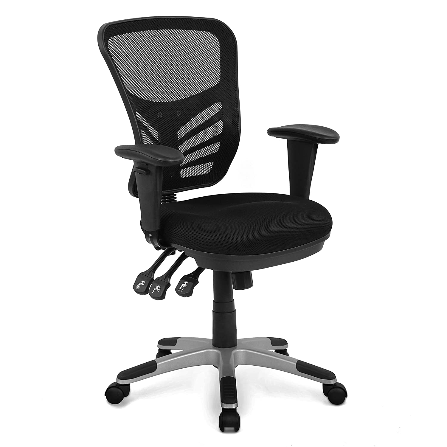 Poly and Bark Brighton Office Chair in Mesh, Black