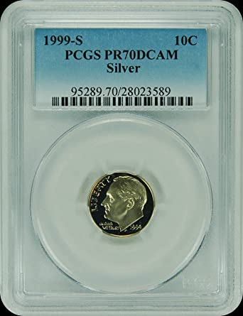 1999-S PCGS PR70DCAM Roosevelt SILVER Dime New PCGS Label