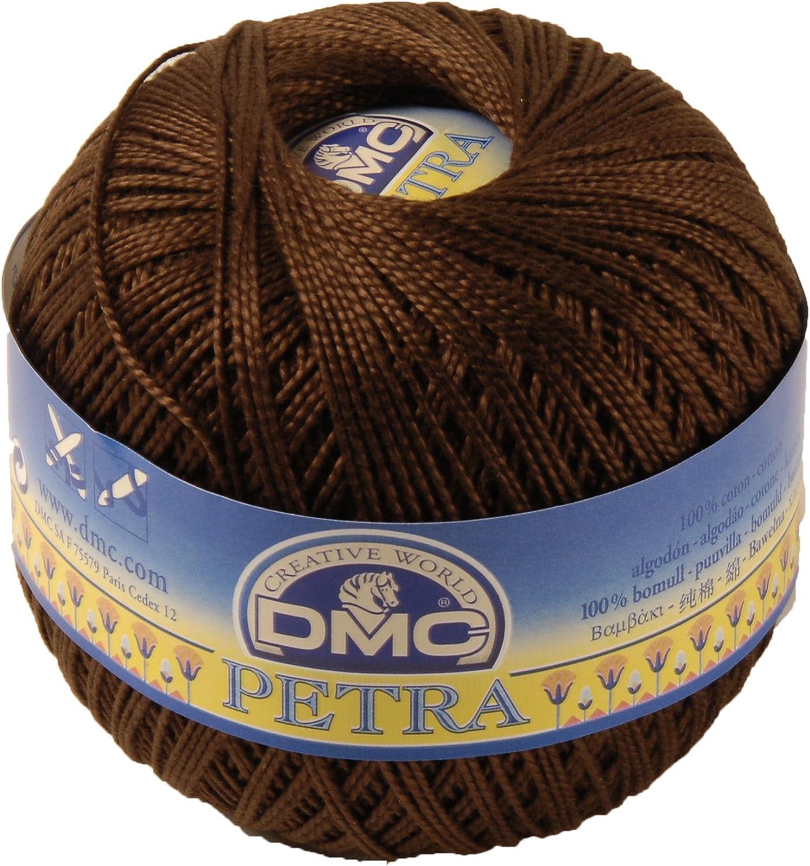 DMC Hilo Petra, 100% algodón, marrón Oscuro, tamaño 5: Amazon.es: Hogar