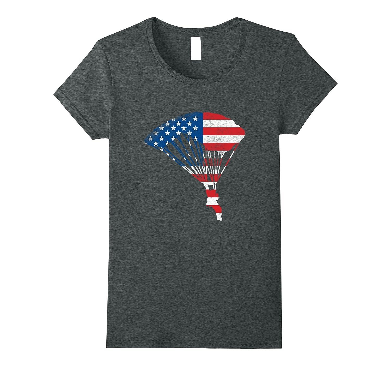 American Parachuting Lover Skydiving Shirt Love Skydive Gift