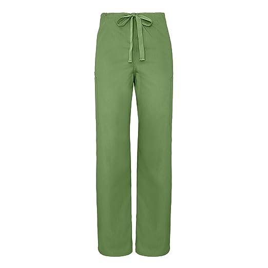 93378bb1948 Adar Universal Unisex Natural-Rise 5 Pocket Drawstring Tapered Leg Pants -  2513 - Asparagus