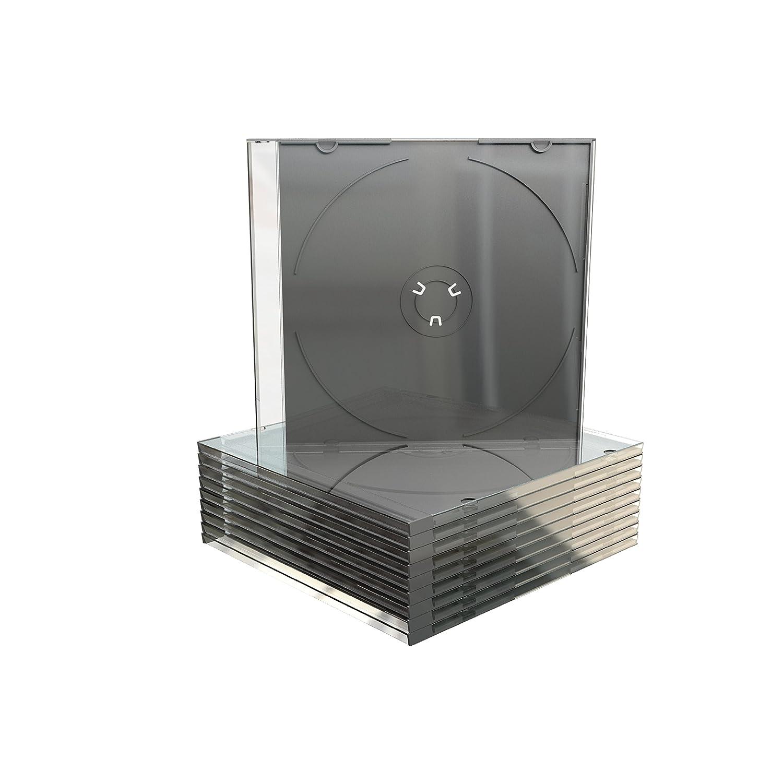 MEDIARANGE BOX21-M Empty CD Case Pack of 50 Black