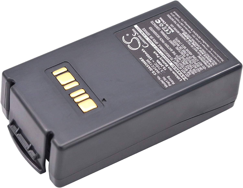 HENZENS 5200mAh Bar Code,Scanner Battery for Datalogic Falcon X3 Datalogic 94ACC1386,Datalogic BT-26
