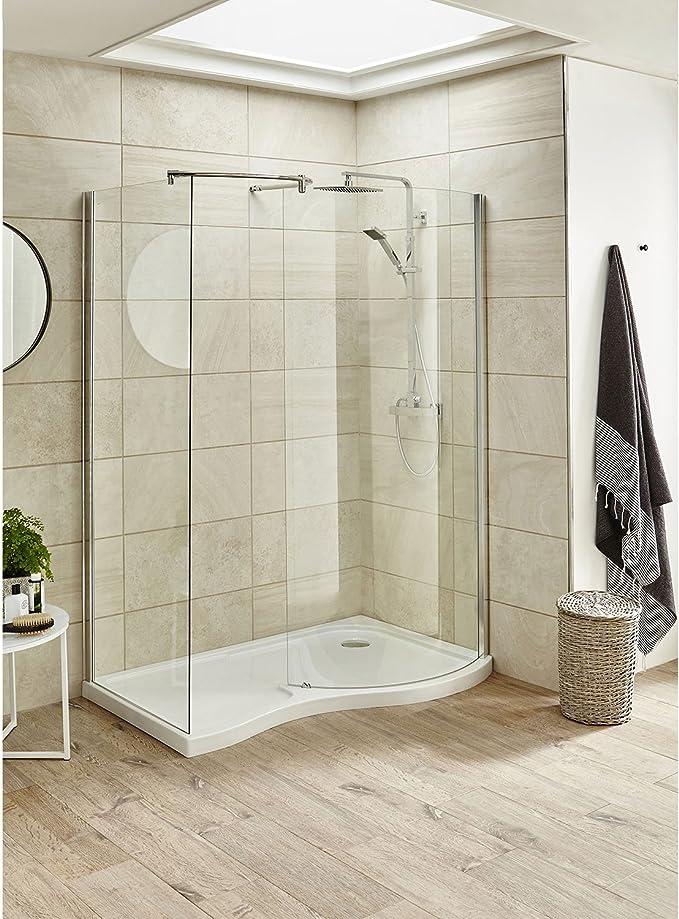Premier AQW Mampara de ducha, transparente: Amazon.es: Bricolaje y ...