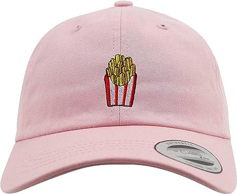 a2295b2ef61 New Basecap  Pommes Frittes - Low Profile Urban Cap Hip-Hop Rap Kappe USA  Flexfit Emoticon Emoji Lustig-e Koch-Mütze Pink Herren   Damen Patch  (Alt-Rosa)  ...