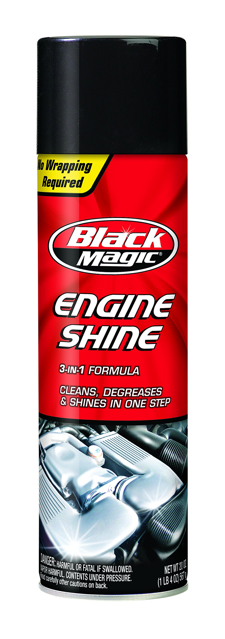 Black Magic BM22018 2-in-1 Engine Shine, 20 oz. by Black Magic