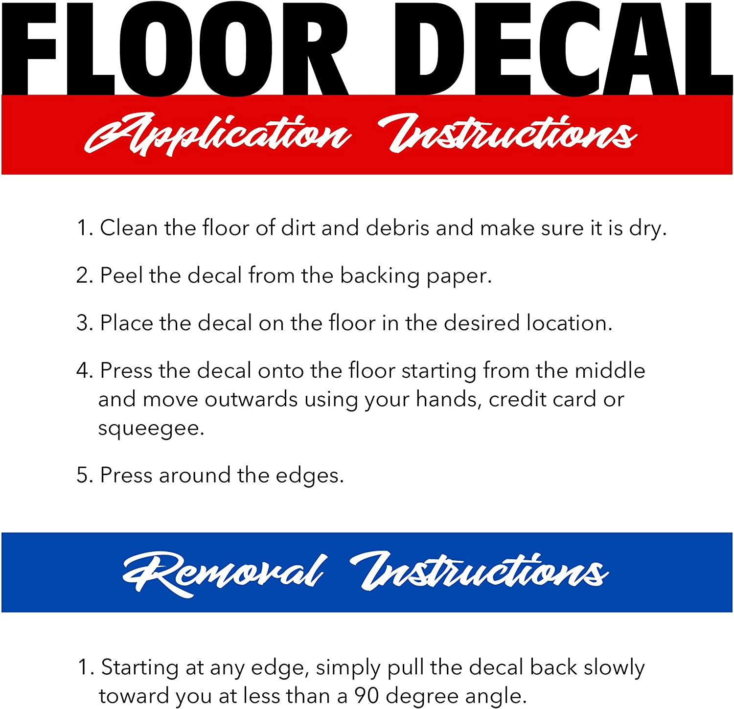 Blue and White Warning Alert Signs 6 Pack Commercial Use Please Wait Here Floor Sticker Social Distancing Water-Resistant Vinyl Decal for Store Business Indoor