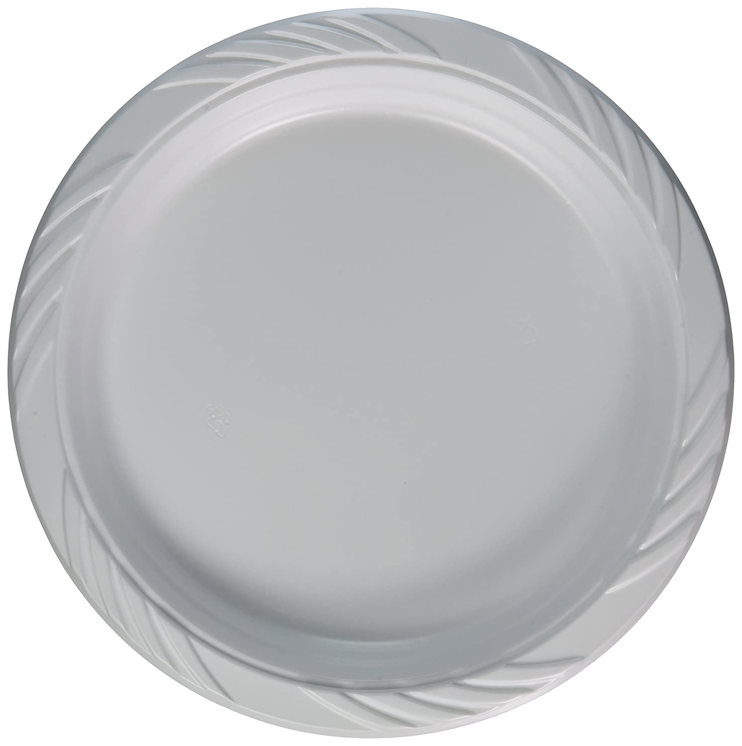 Amazon.com Blue Sky 100 Count Disposable Plastic Plates 9-Inch White Kitchen \u0026 Dining  sc 1 st  Amazon.com : disposable serving plates - pezcame.com