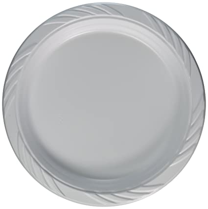 Amazon.com: Blue Sky 100 Count Disposable Plastic Plates, 9-Inch ...