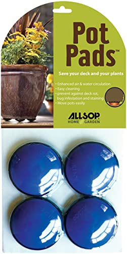 Allsop Home And Garden Pot Pads, Deck And Patio Protection With 3,000 Lbs  Rating,