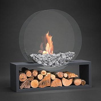 ALFRA Feuer   Standkamin Julilus Rund DIN Im Glasdesign   Ethanol Kamin