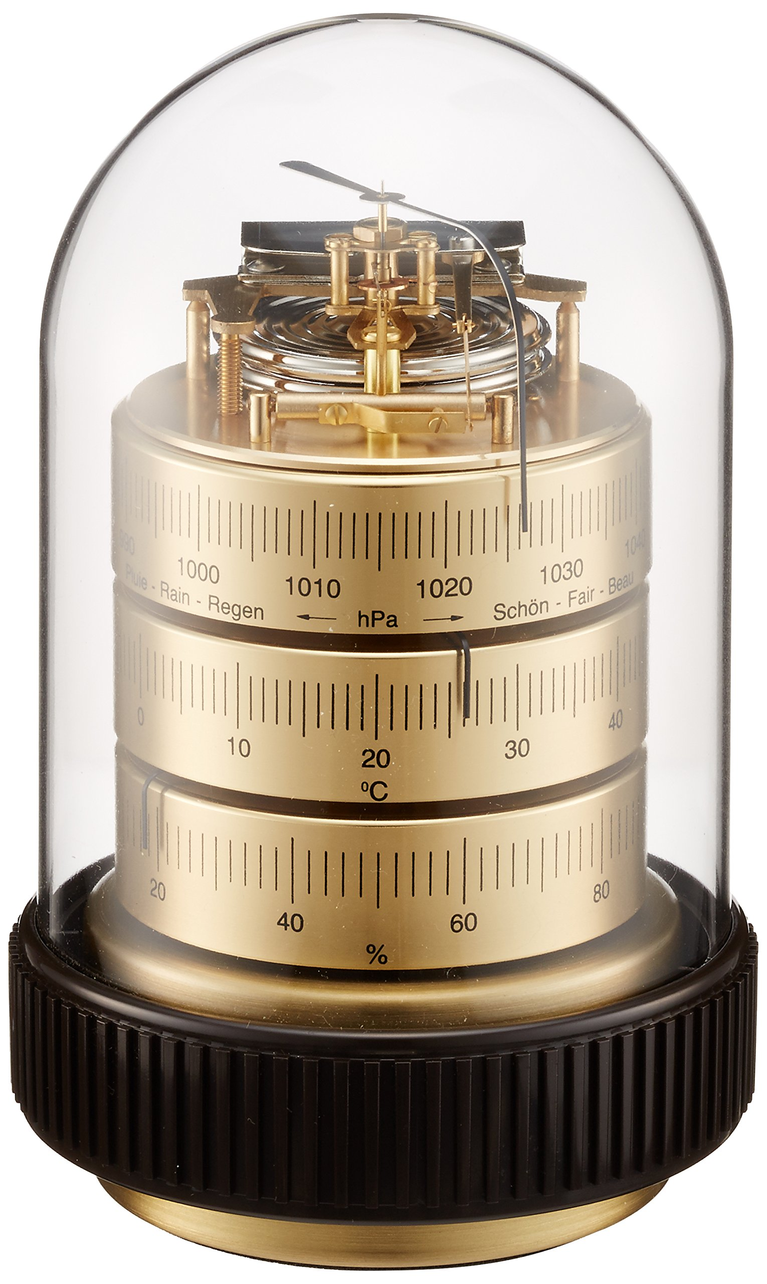 Barigo temperature and humidity barometer Gold