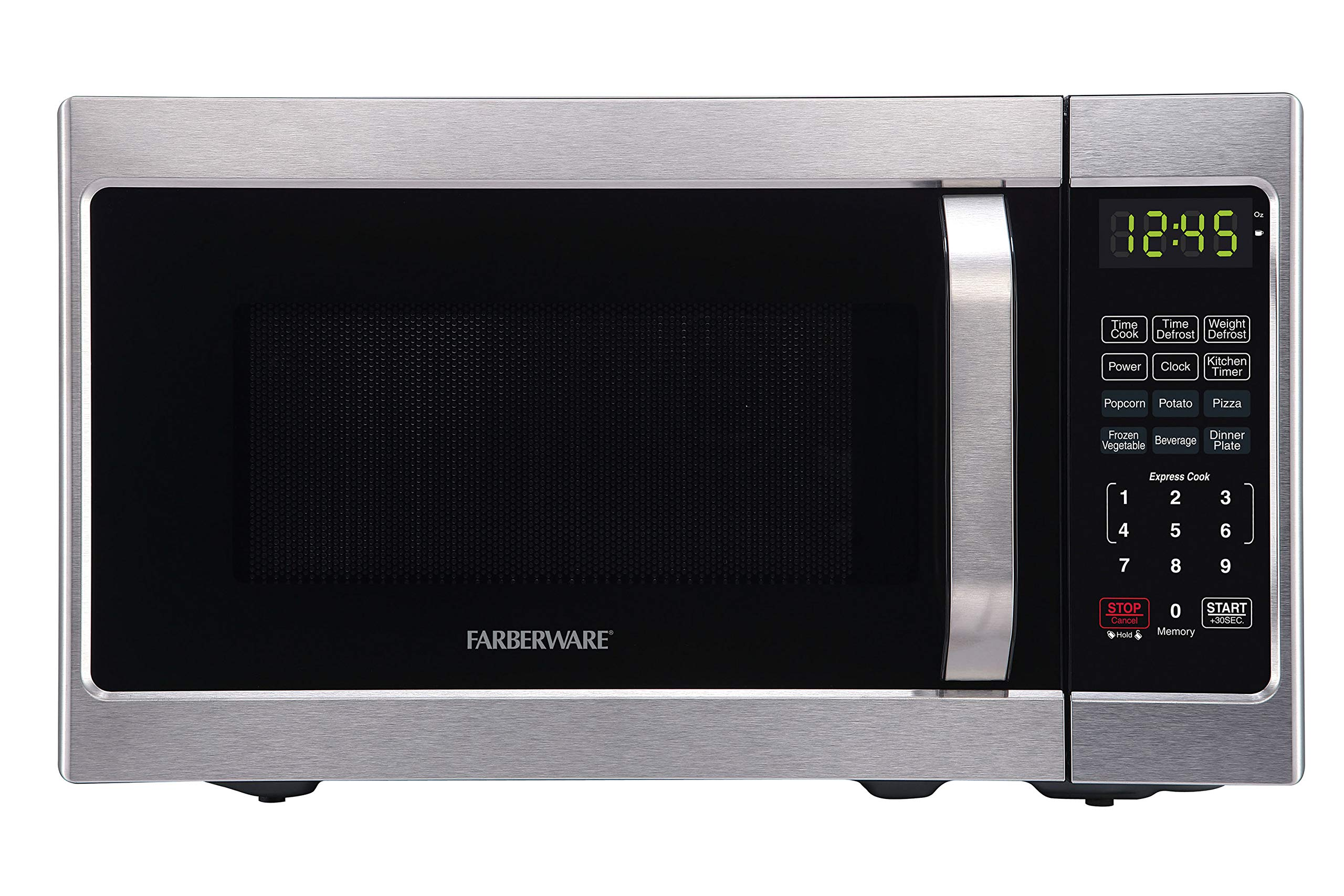 Farberware Classic FMO07AHTBKJ 0.7 Cu. Ft. 700-Watt Microwave Oven with LED Lighting, Brushed Stainless Steel by Farberware