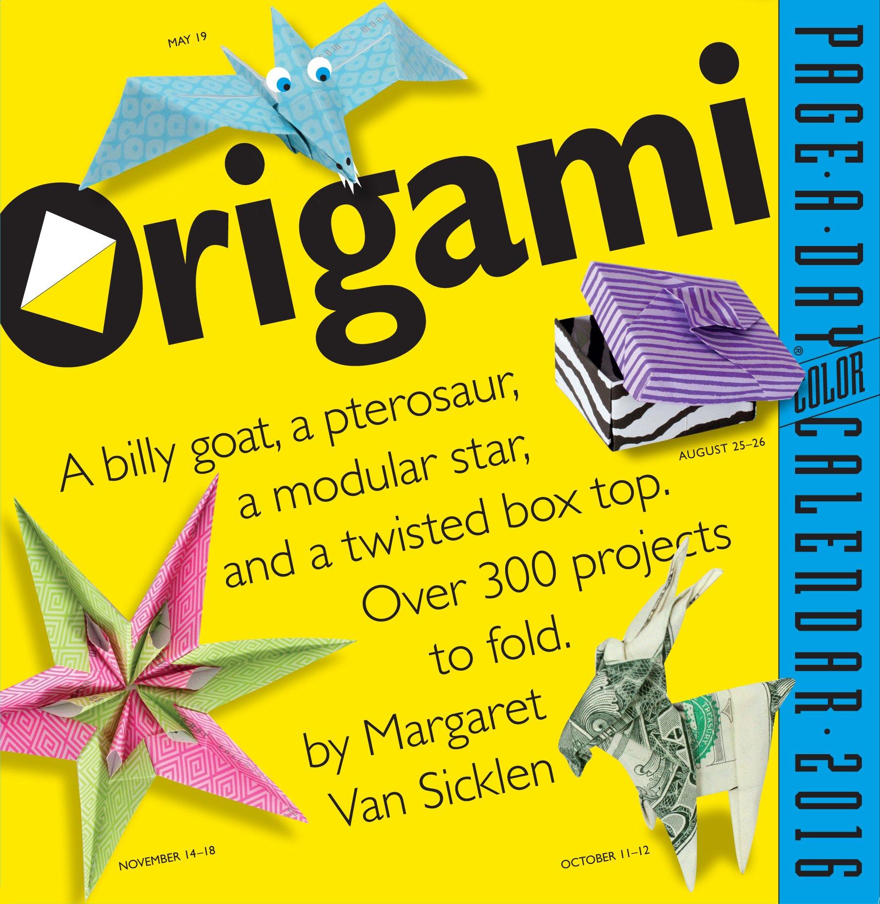 Origami 2016 Calendar