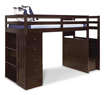 Amazon Com Canwood Mountaineer Loft Bed With Storage Tower And