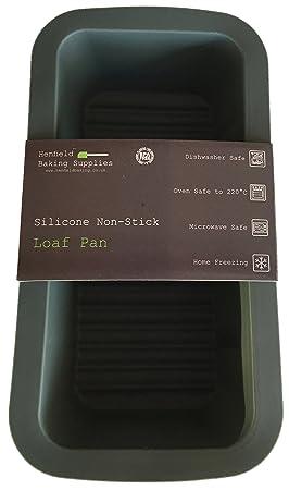 Molde / Bandeja de Silicona para Pan / Bizcocho / Pastel / Tarta, Gris Oscuro de 23 cm: Amazon.es: Hogar