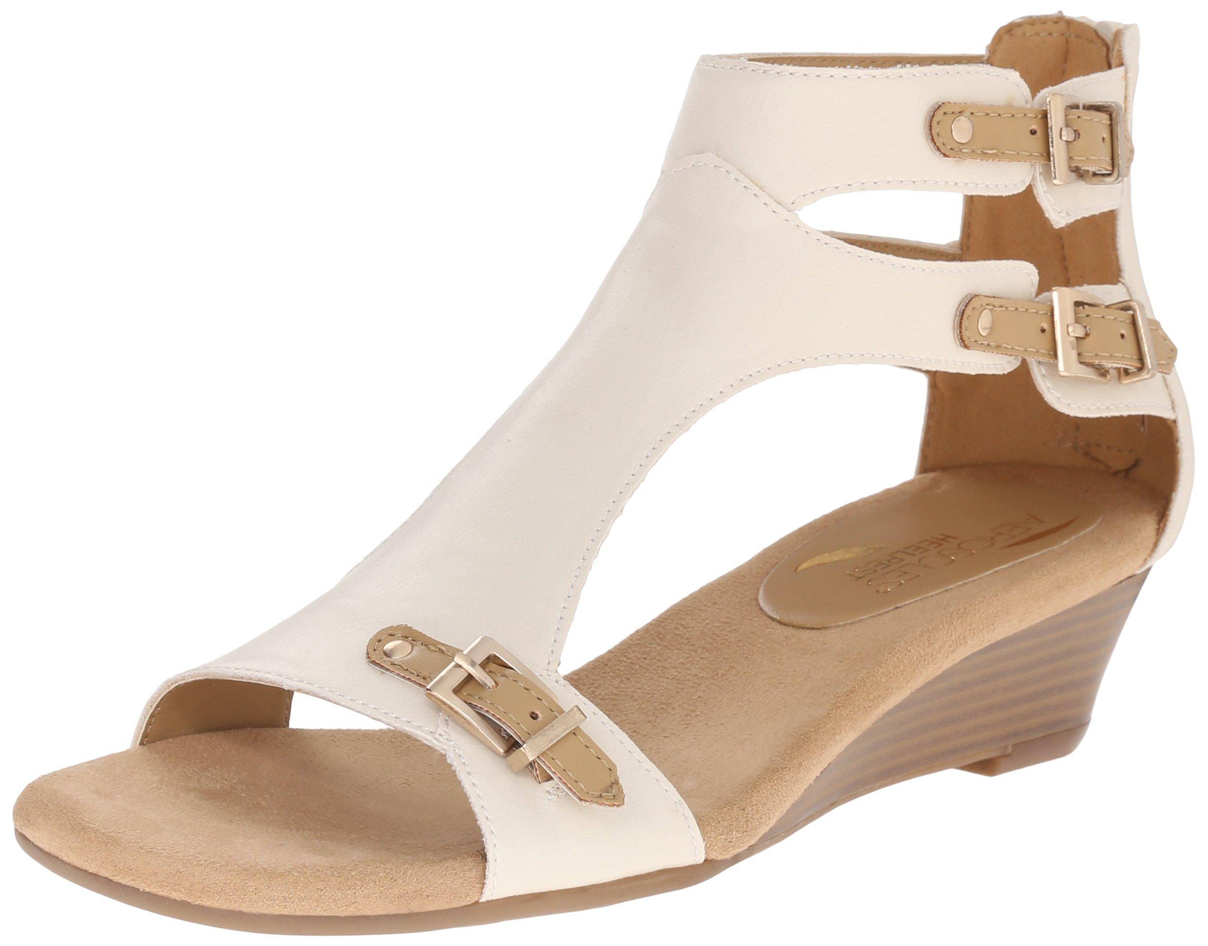 Aerosoles Women's YET Another Wedge Sandal, Bone Combo, 12 M US