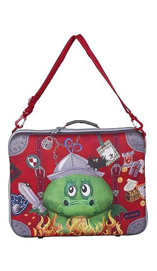 okiedog wildpack 80333 Maleta para niños con Motivo 3D DRAGÓN, Rojo: Amazon.es: Equipaje