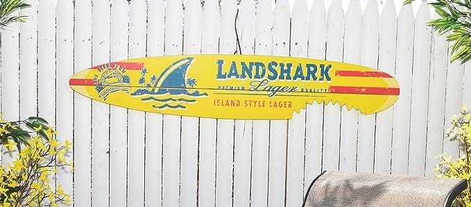 Amazon.com : Margaritaville Outdoor Land Shark Bite Wall Art ...