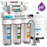 Express Water Alkaline Reverse Osmosis Filtration System – 10 Stage RO Mineralizing Water Filter – Mineral, Antioxidant, pH + – Under Sink Purifier with Remineralization – 100 GPD