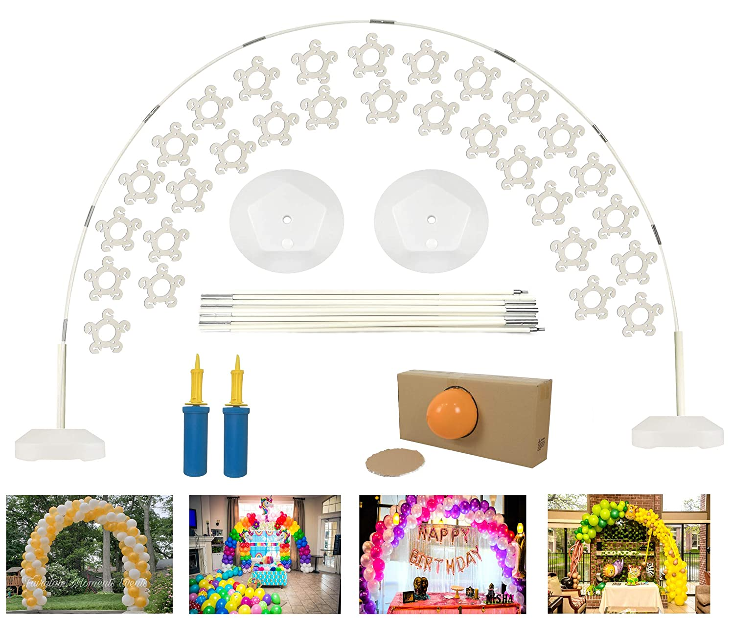 DeElf Quick & Easy Balloon Arch Kit for Birthday, Event Planning, Wedding Event Party Decoration