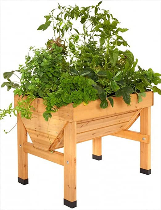 vegtrug (Madera Bancal/Planta trog para balcón y Terraza, apto ...
