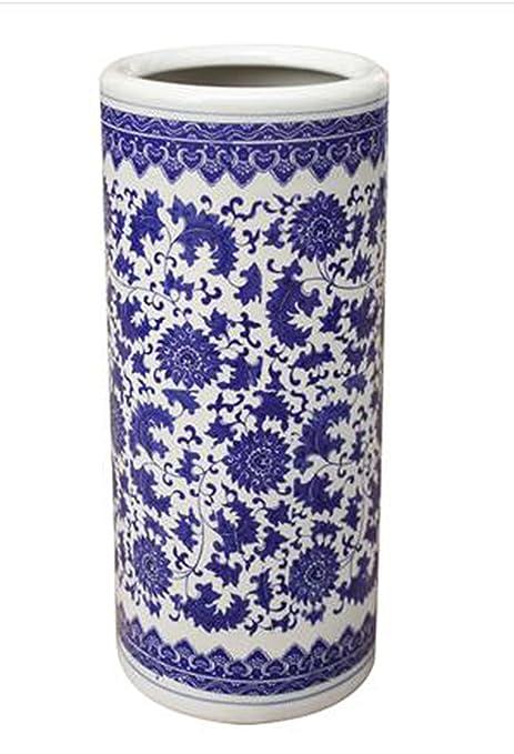 BANCHELLE Paragüero para Paraguas, Color Azul y Blanco ...
