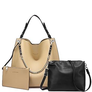 Sac fourre-tout pour les femmes, sac à bandoulière pour les femmes Sac fourre-tout avec organisateur de sac (noir)