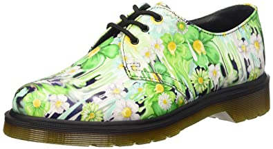 1461 Slick Backhan, Chaussures Femme, Multicolore (Green Paint), 39 EUDr. Martens