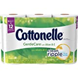 Cottonelle GentleCare Toilet Paper, 6 Double Rolls, Sensitive Bath Tissue with Aloe & Vitamin E