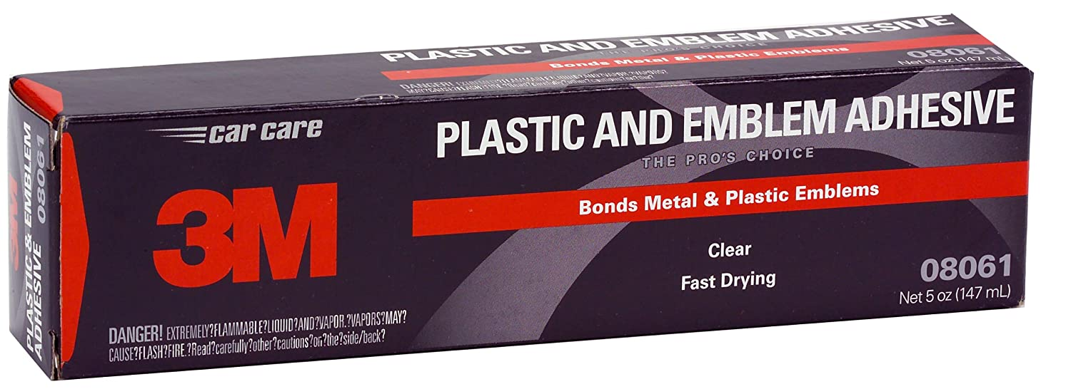 3M 08061 Plastic and Emblem Adhesive Tube - 5 oz.