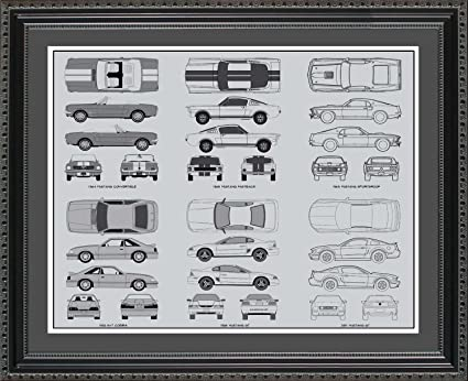 Ford mustang blueprint collection framed car art gift 20x24 amazon ford mustang blueprint collection framed car art gift 20x24 malvernweather Choice Image