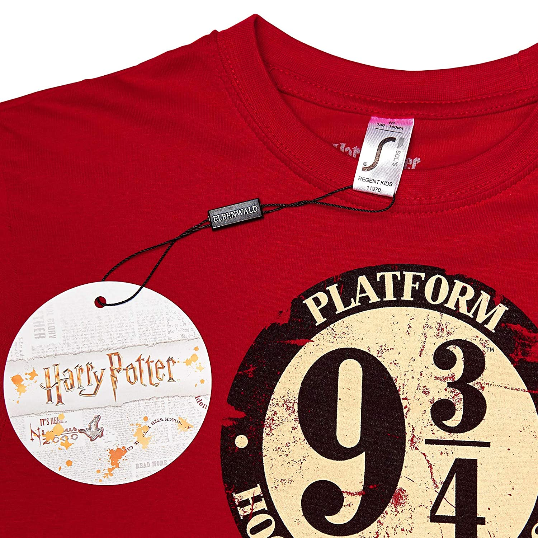 328d90e48 Camiseta para ni/ñ os Harry Potter Pista 9 3//4 Hogwarts Express Elven  Forest ...