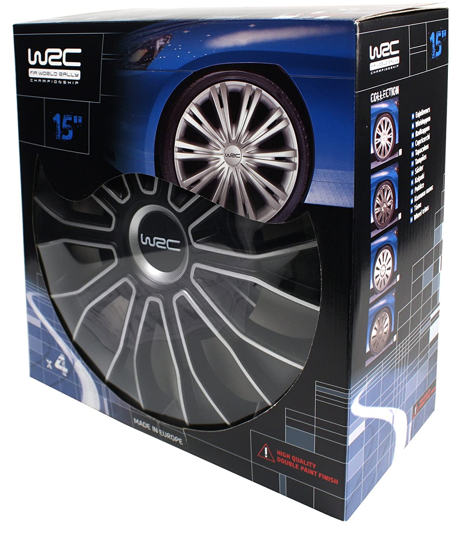 4 pi/èces WRC 007468 Boite 4 Enjoliveurs 14 N/°5 Bicolore