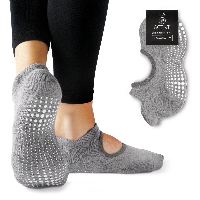 LA Active Grip Socks - Yoga Pilates Barre Non Slip - Ballet LAA-103