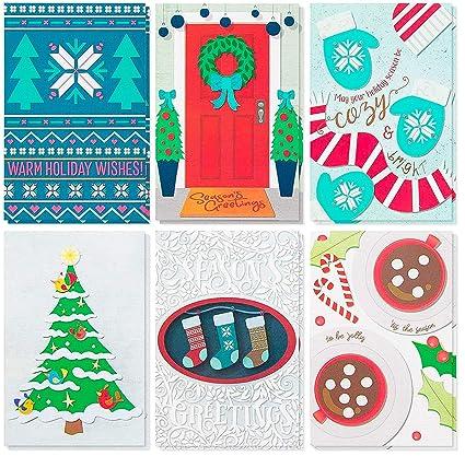 Amazon.com : 48-Pack Christmas Card Bulk Box Set - Holiday Greeting ...