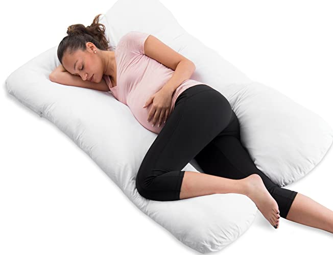 ComfySure Full Body Pregnancy Pillow - U Shaped Hypoallergenic Maternity Support
