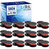 LxTek Replacement for GR24 Universal Twin Spool Calculator Ribbon use with Nukote BR80c, Sharp El 1197 P III, Porelon 11216,