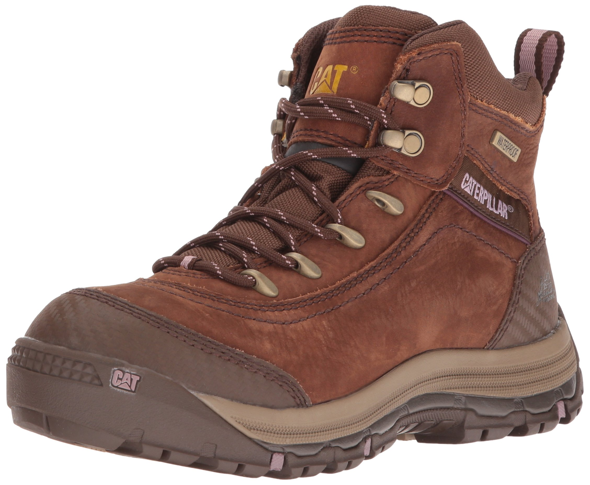 Caterpillar Women's Ally 6'' Waterproof Industrial and Construction Shoe, Brown, 10 M US